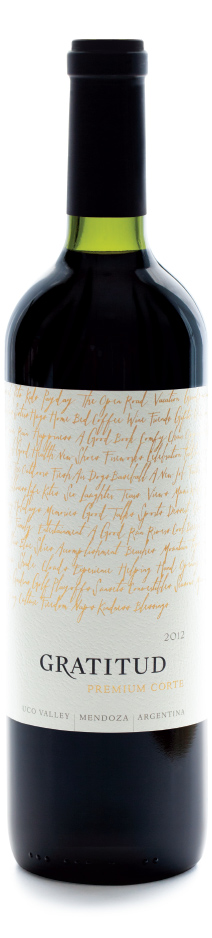 Picture of bottle of Gratitud Premium Corte wine
