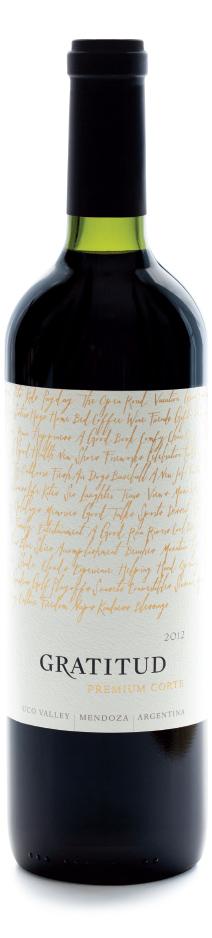 Picture of bottle of Gratitud Premium Corte wine