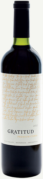 Image of Gratitud Premium Corte wine bottle