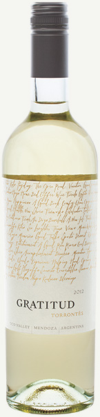 Image of Gratitud Torrontés wine bottle