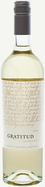 Image of Gratitud Torrontés wine bottle